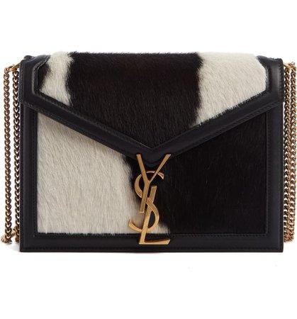 Saint Laurent Medium Cassandra Genuine Calf Hair Crossbody Bag | Nordstrom