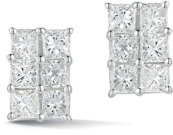 Ryan Princess Diamond Stud Earrings