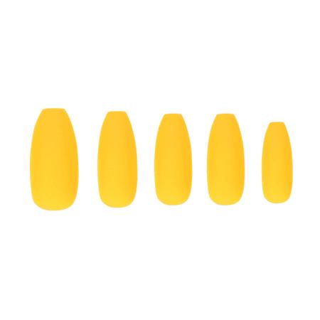 Marmalade Nails Cheddar | Matte Yellow Long Coffin Press-on Nails