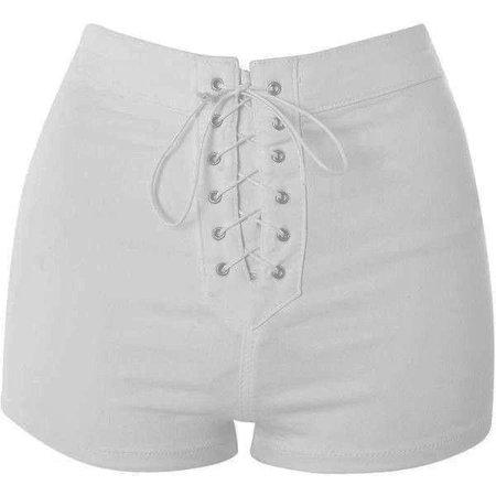 TopShop moto lace up joni shorts ($37)