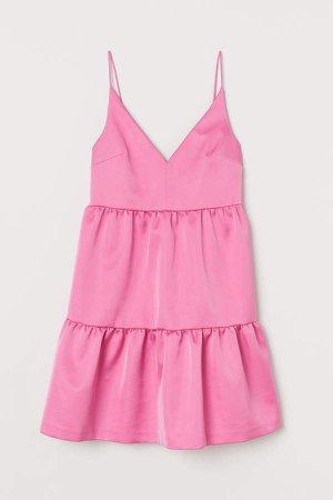 Satin Dress - Pink