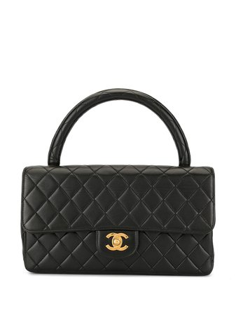 Chanel Pre-Owned 1995 Diamond Quilted Cc Tote Vintage | Farfetch.com
