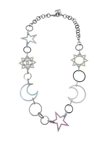 Chanel Long Celestial CC Chain Necklace - Necklaces - CHA347747   The RealReal