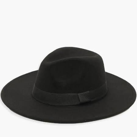 Tape Detail Fedora Hat - Black - One Size