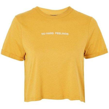 Topshop 'No Hard Feelings' Cropped T-Shirt