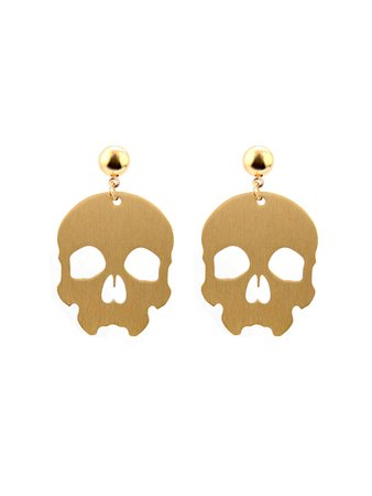 Open Skull Drop Earrings