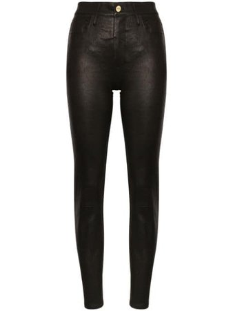 FRAME Le Sylvie Skinny Leather Trousers - Farfetch