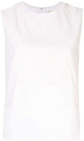Pre-Owned Stripe Sleeveless Vest