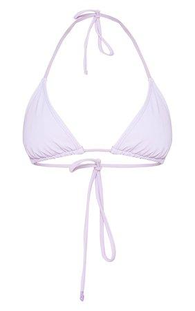 Lilac Reflective Adjustable Triangle Bikini Top - SALE Swimwear - Sale | PrettyLittleThing
