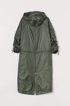 Lightweight Windproof Parka - Green