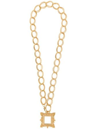 MOSCHINO frame pendant necklace