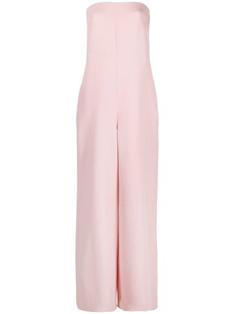 Valentino, strapless wide-leg jumpsuit