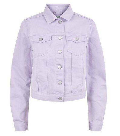 Lilac Cropped Denim Jacket | New Look