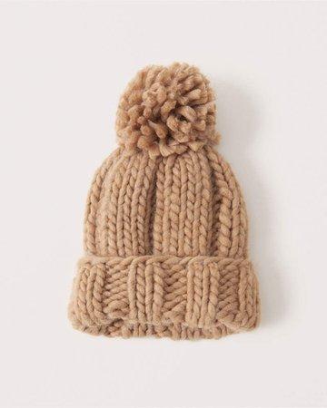 Light Brown Women's Chunky Knit Beanie | Women's New Arrivals | Abercrombie.com