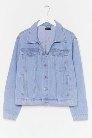 Seam It All Plus Size Denim Jacket | Nasty Gal