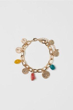 Bracelet with Pendants - Gold-colored/multicolored - Ladies | H&M US