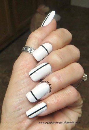 black and white manicure - Google Search