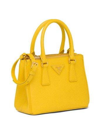 Prada mini galleria tote in sunny yellow