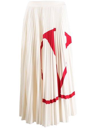 Valentino VLOGO Pleated Skirt - Farfetch