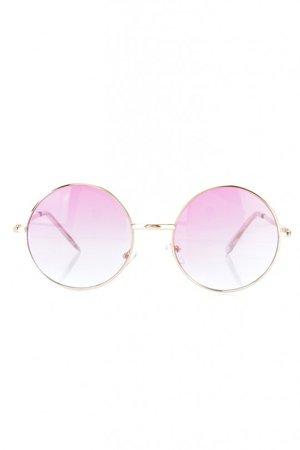 Light Pink Round Sunglasses