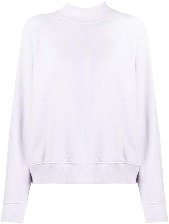 mock neck cotton sweatshirt