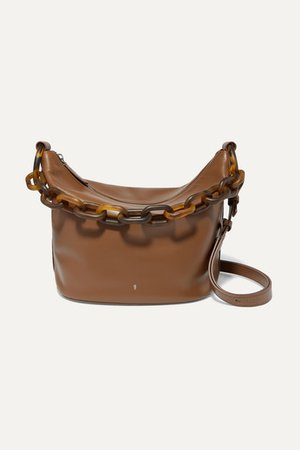 Leather Shoulder Bag - Brown
