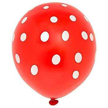 "Amazon.com: 12"" Latex Red Polka Dot Balloons, 6ct: Party Balloons: Kitchen & Dining"