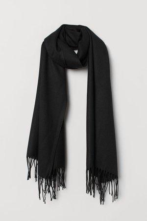 Woven Scarf - Black