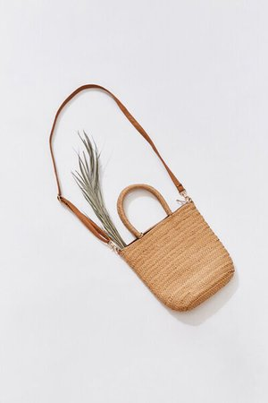 Faux Straw Tote Bag