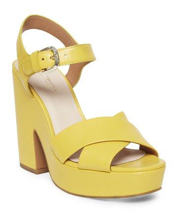 kate spade new york grace leather platform sandals