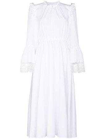 Giambattista Valli Lace Trim Cotton Midi Dress - Farfetch