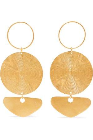 CANO x Paula Mendoza | Citara gold-plated earrings | NET-A-PORTER.COM