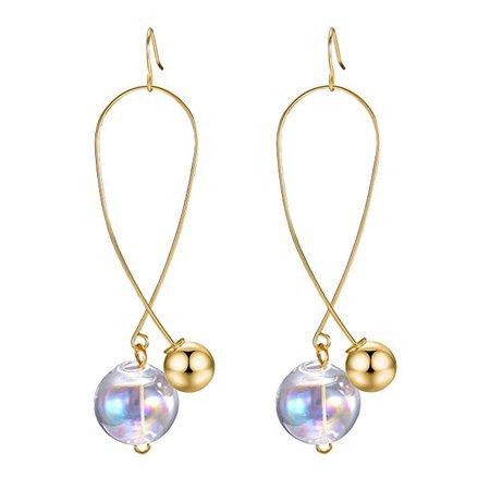 Amazon.com: Ball Drop Earrings, Colorful Mermaid Bubble Drop Dangle Earrings for Women Fashion Jewelry, Gold: Clothing