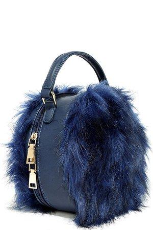 Cute Navy Blue Purse - Faux Fur Purse - Faux Fur Bag - $31.00 - Lulus