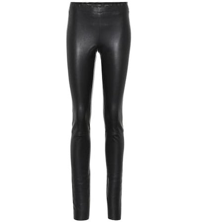 Carolyn leather leggings