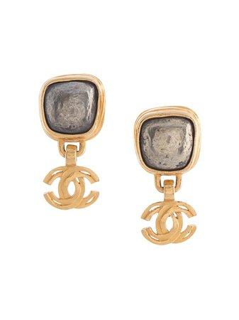 Chanel Pre-Owned 1997 CC Drop Earrings - Farfetch