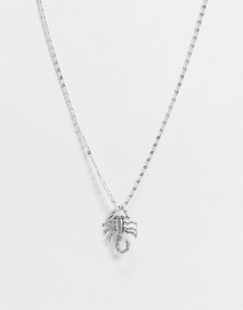 Regal Rose Noxious necklace with scorpian pendant in silver plate | ASOS