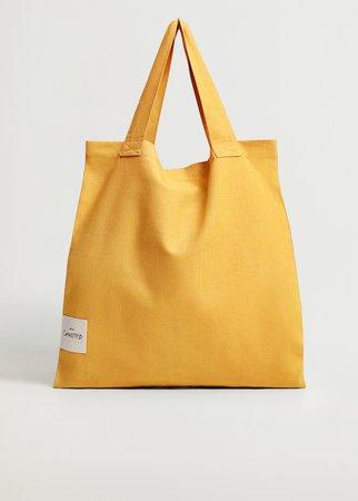 Croc-effect tote bag - Woman   Mango Slovakia