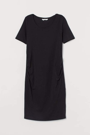 MAMA Cotton Jersey Dress - Black