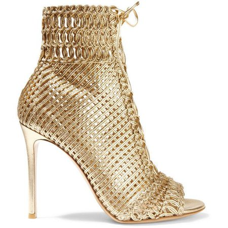 Gold Metallic Leather Boots