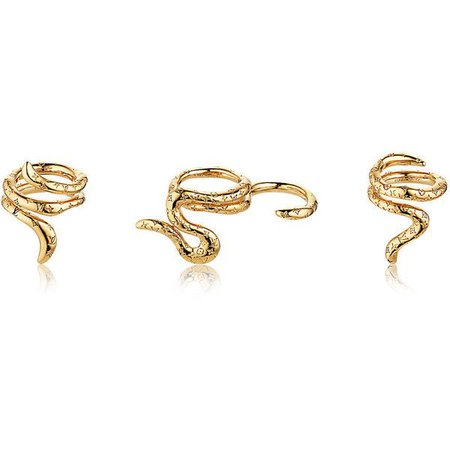 Gold Snake Ring Set