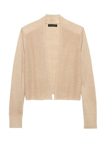 Linen Cardigan Sweater | Banana Republic beige