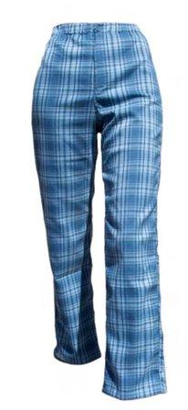 blue plaid pants