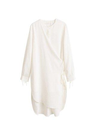 MANGO Wrap soft fabric blouse