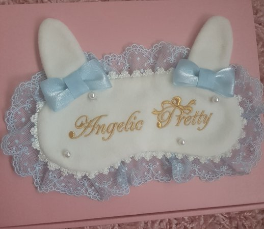 Angelic Pretty Snow Bunny Sleep Mask in Sax