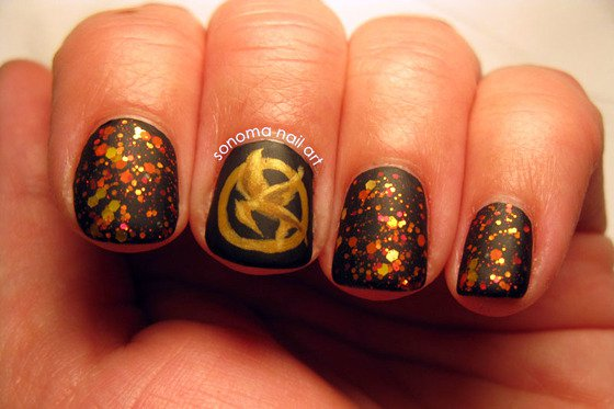 hunger games nail art