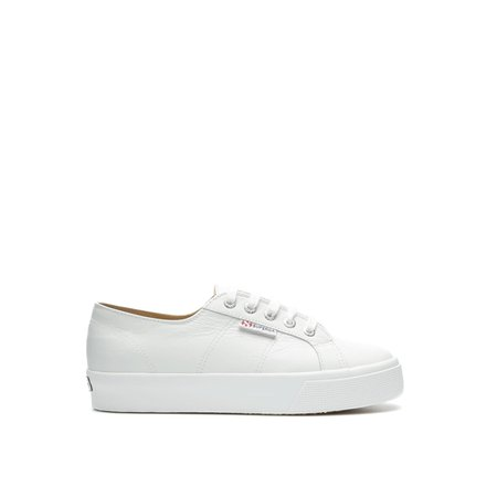 Superga white leather