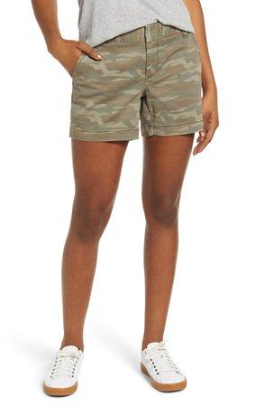 Caslon® Cotton Twill Shorts | Nordstrom