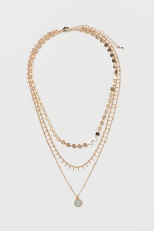 Multi-strand Necklace - Gold-colored/light green - Ladies | H&M US
