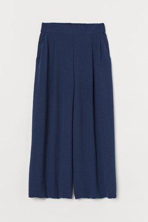 Wide-cut Pants - Blue